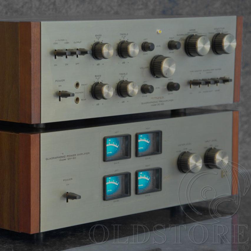 preamplificatore e amplificatore finale usato Pioneer QC + QM 80